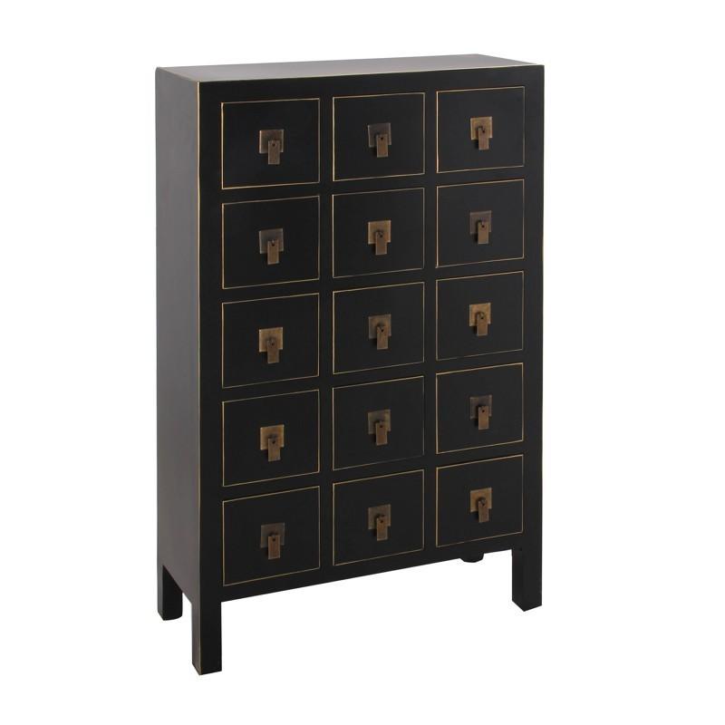 Mueble oriental 15 cajones negro portes gratis te for Muebles orientales online