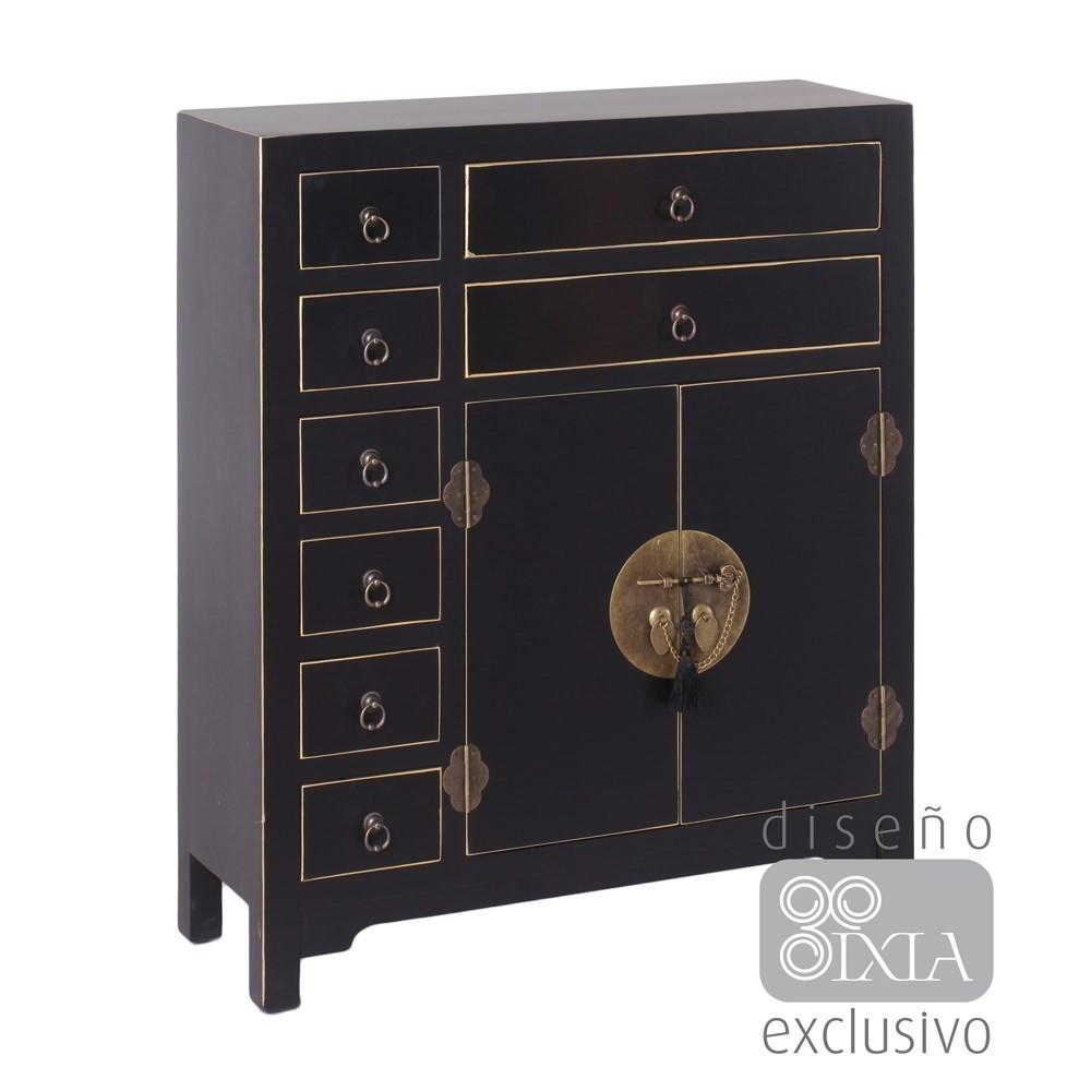 Mueble oriental 8 cajones negro te imaginas for Muebles chinos online