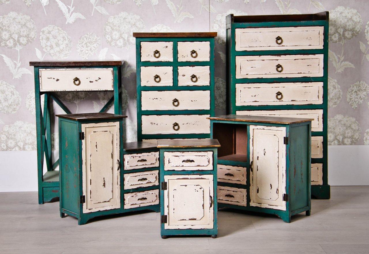 Mueble 8 cajones envejecido te imaginas for Mueble cajones pequenos