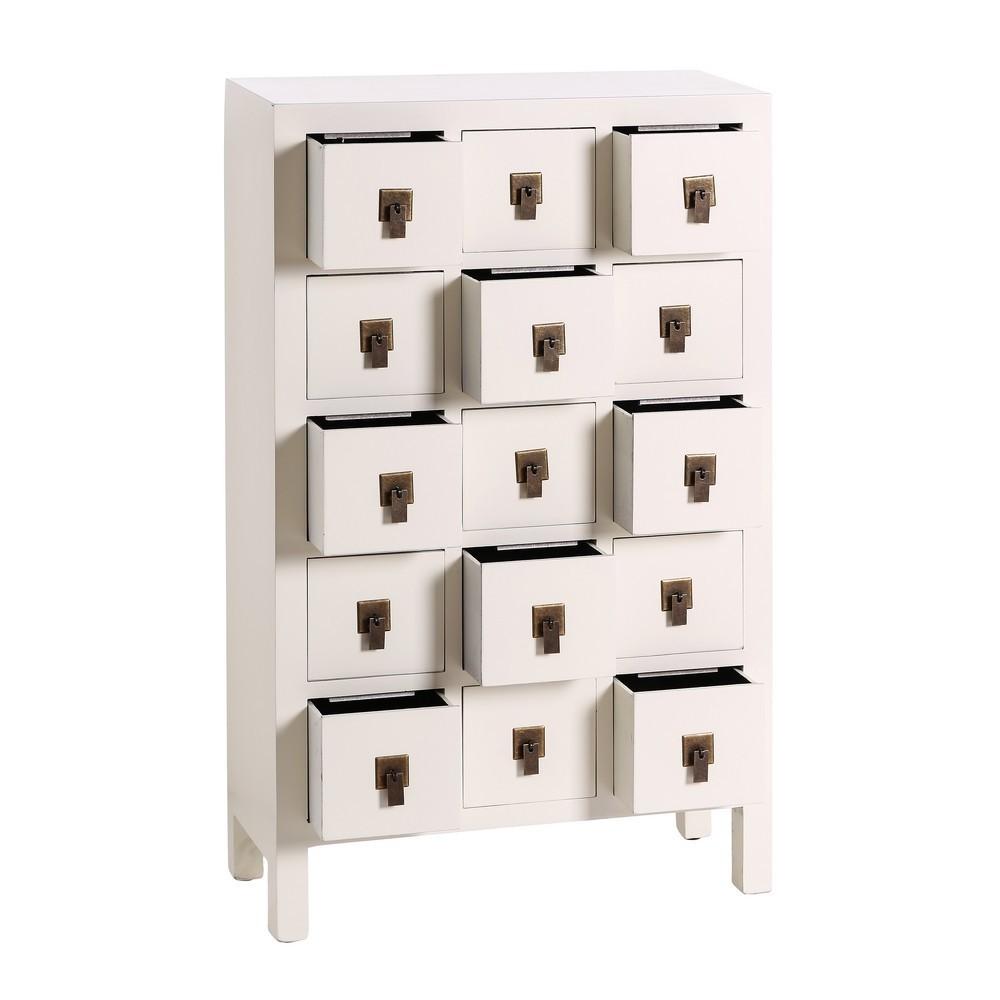 Mueble 15 Cajones Oriental Blanco |- Te Imaginas...