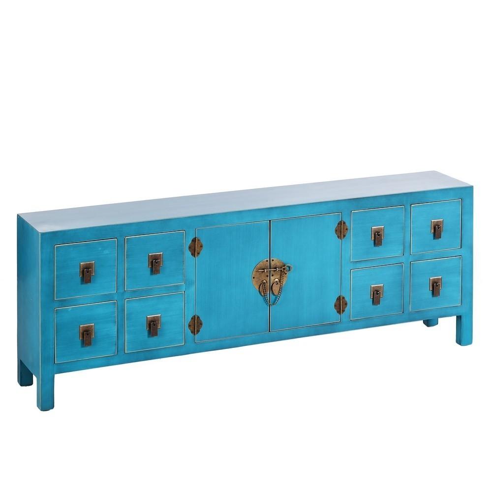 Mueble tv oriental azul 8 cajones te imaginas for Ixia muebles