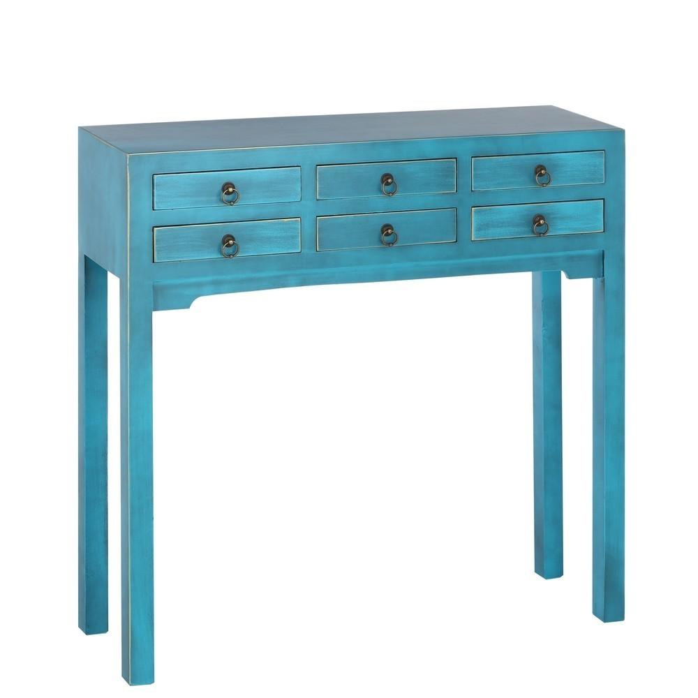 Consola 6 cajones oriental azul portes gratis te imaginas - Consolle bagno ikea ...