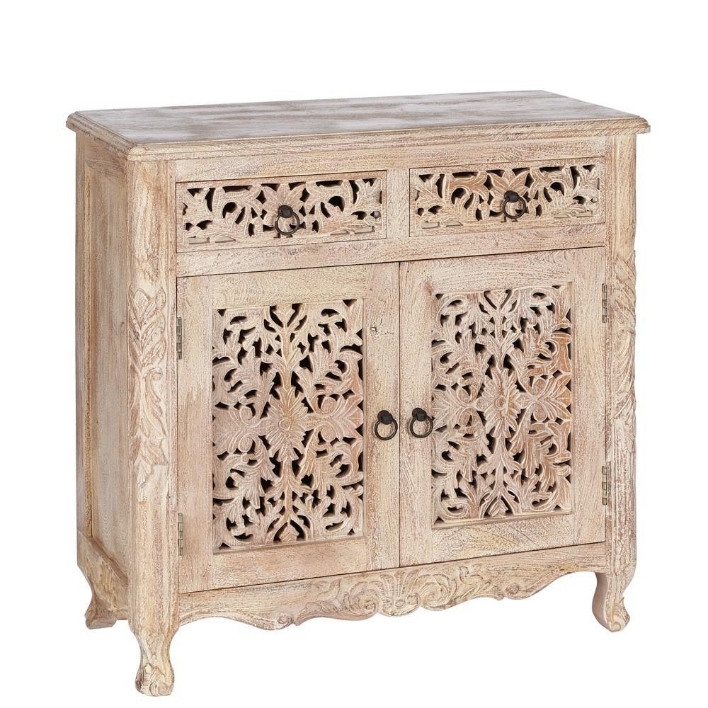 Aparador oriental 2 puertas 2 cajones r stico te imaginas for Muebles estilo arabe