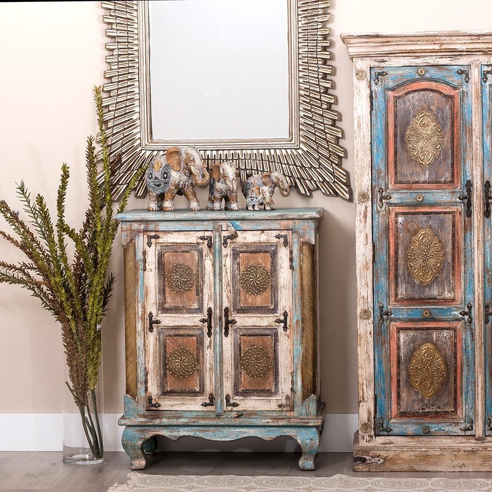 Mueble Baño Oriental:Mueble Oriental Rústico 2 Puertas – Te Imaginas