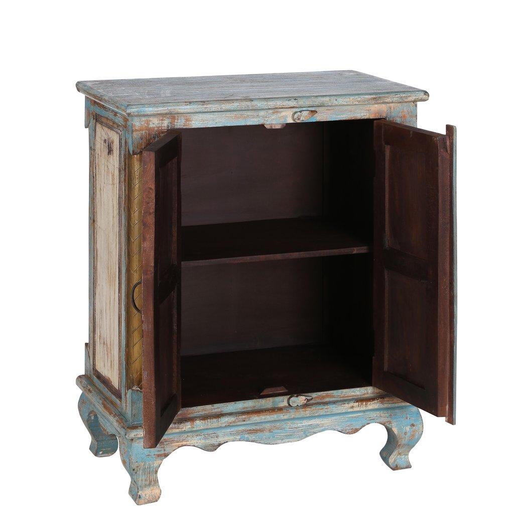 Mueble oriental r stico 2 puertas te imaginas for Mueble auxiliar rustico