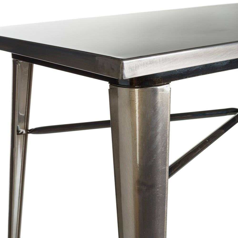 Mesa metal plata industrial te imaginas for Muebles industriales madrid