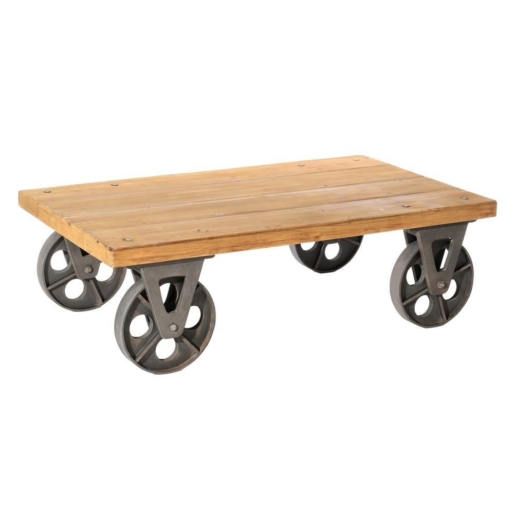 Mesa con ruedas industrial te imaginas Mesas industriales vintage
