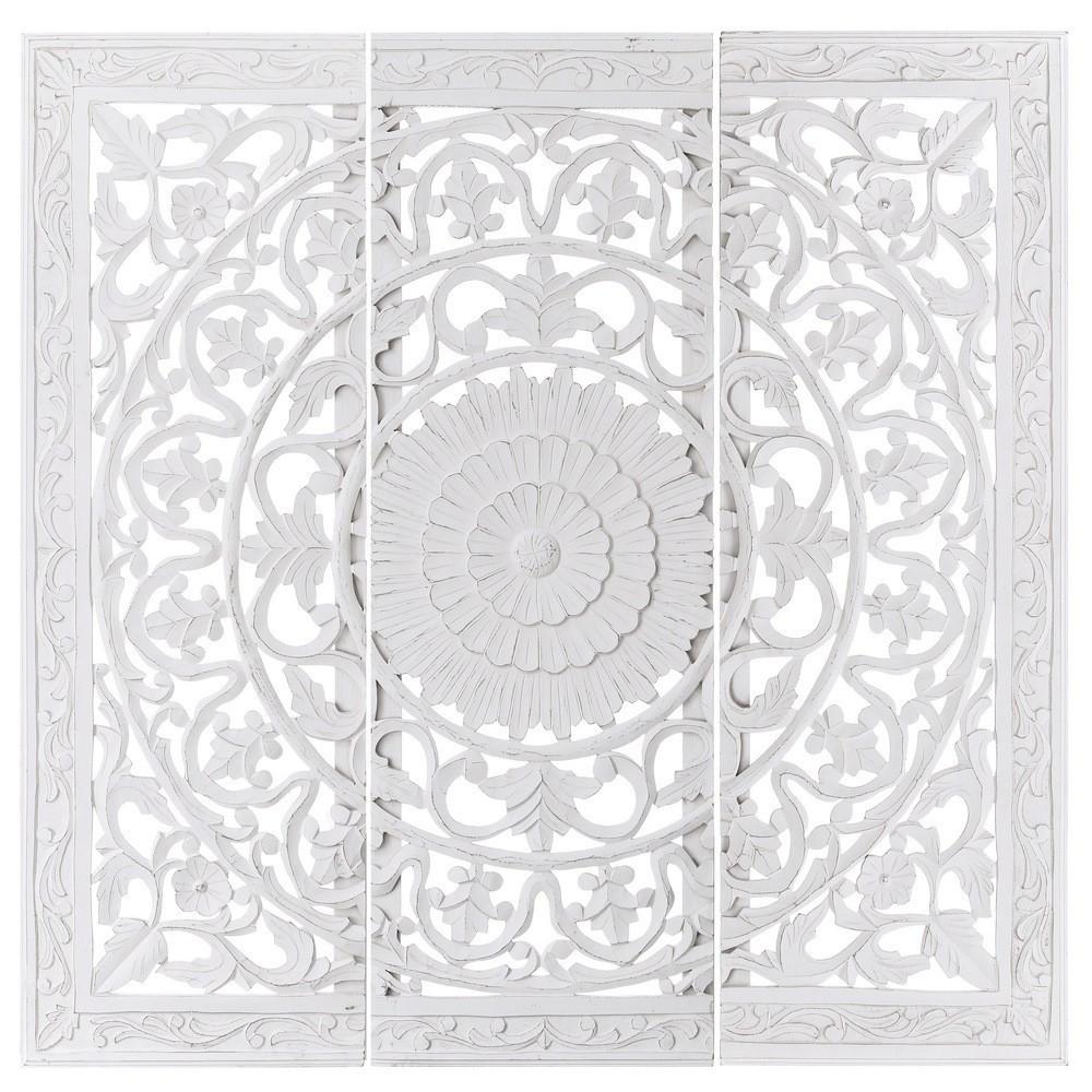Mural talla blanco tr ptico 180x180 te imaginas - Murales de madera ...