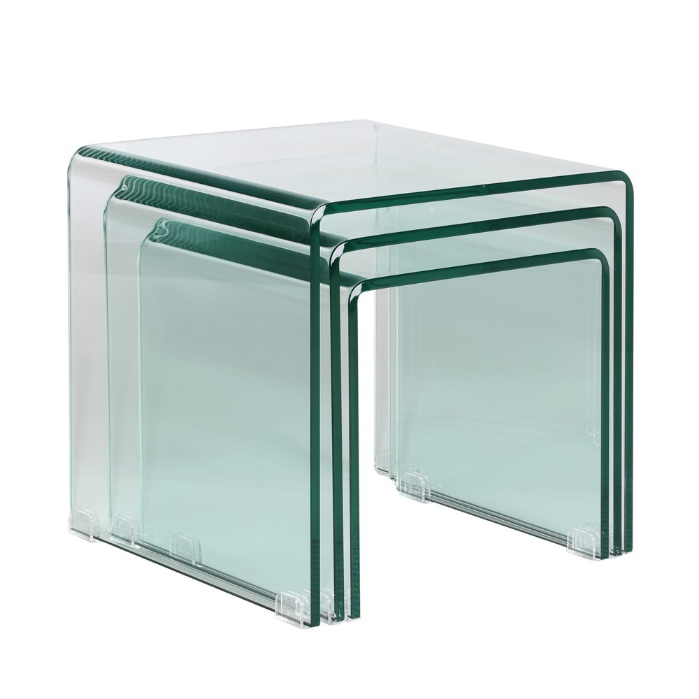 Mesas nido cristal templado te imaginas - Mesas cristal templado ...
