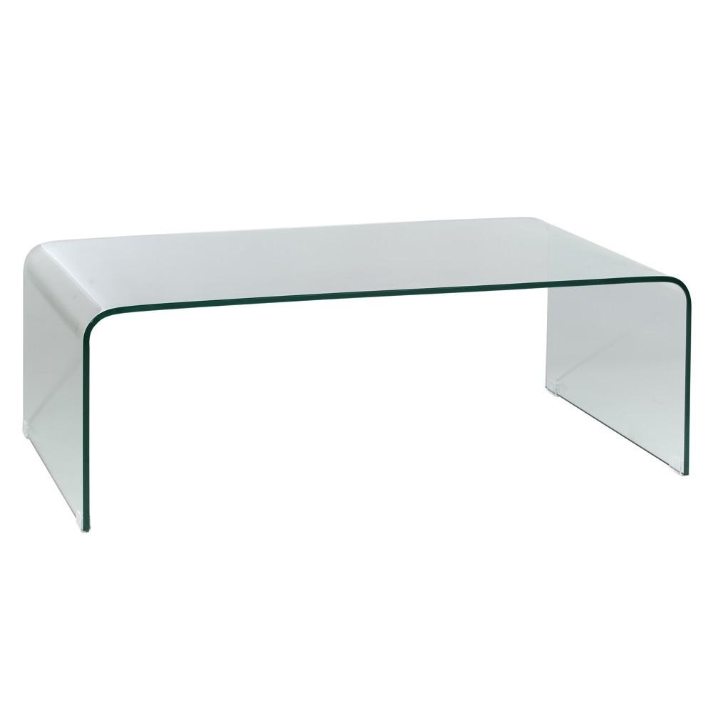 mesa de centro cristal templado