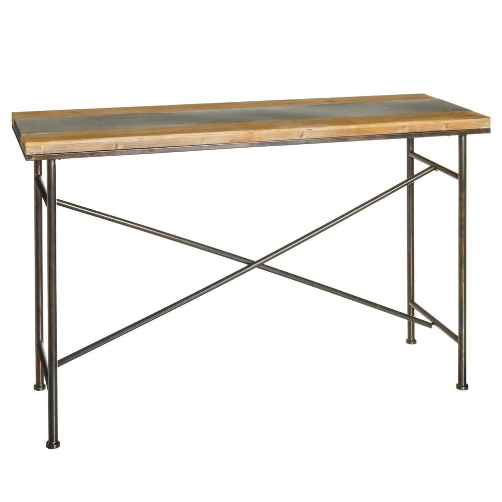 Consola industrial madera metal te imaginas - Consola industrial ...