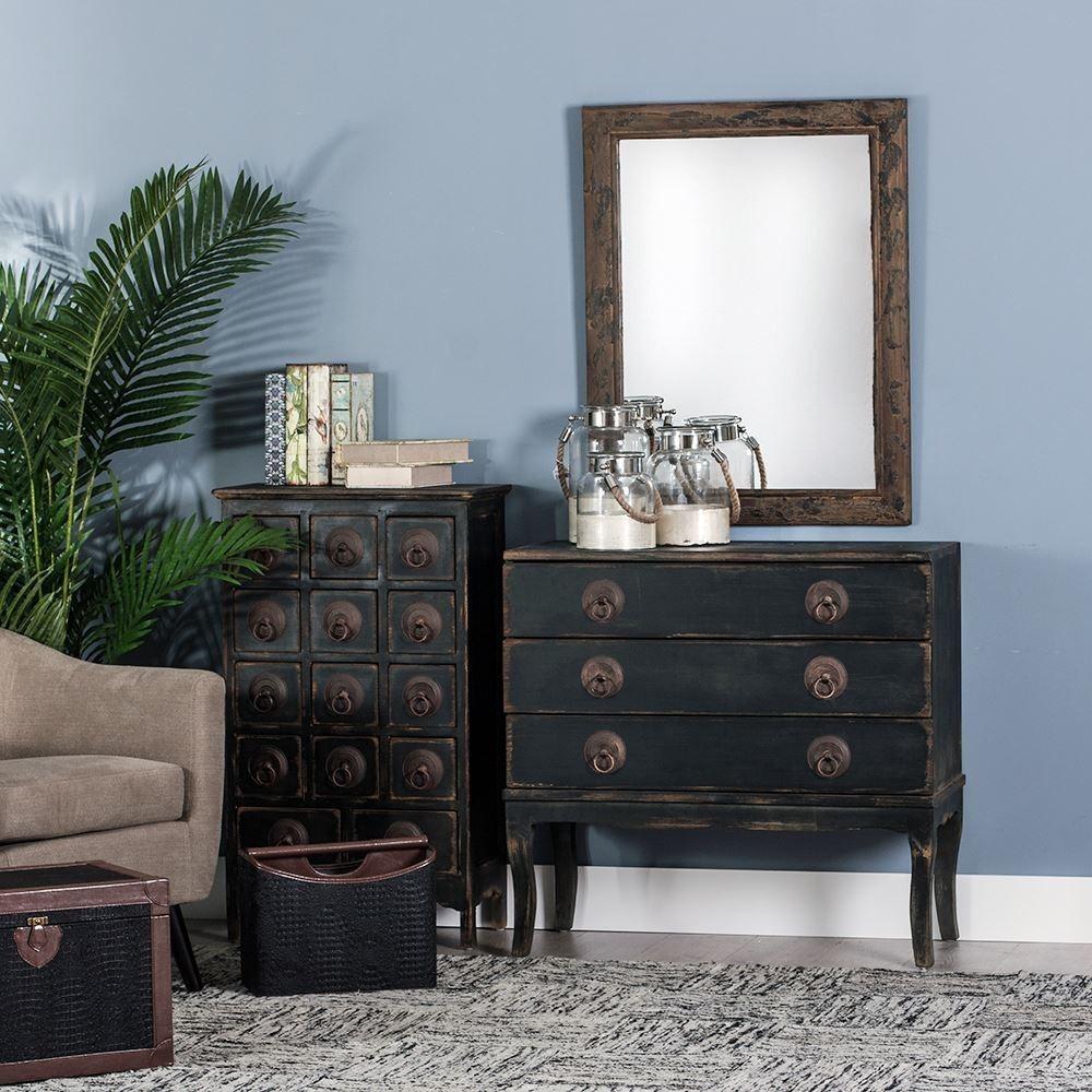 Mueble 14 Cajones Negro Oriental Rústico  Te Imaginas