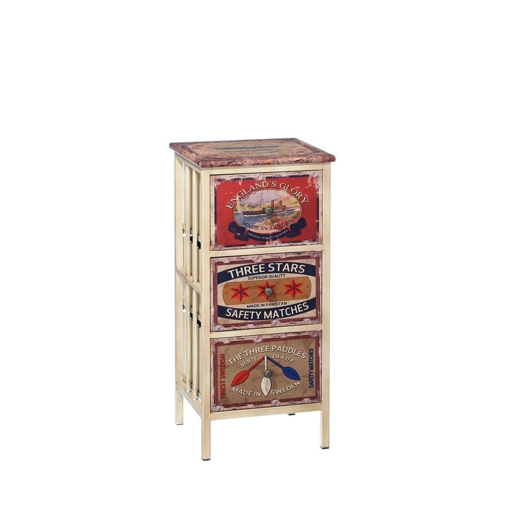 Mueble auxiliar 3 cajones retro te imaginas - Muebles online vintage ...