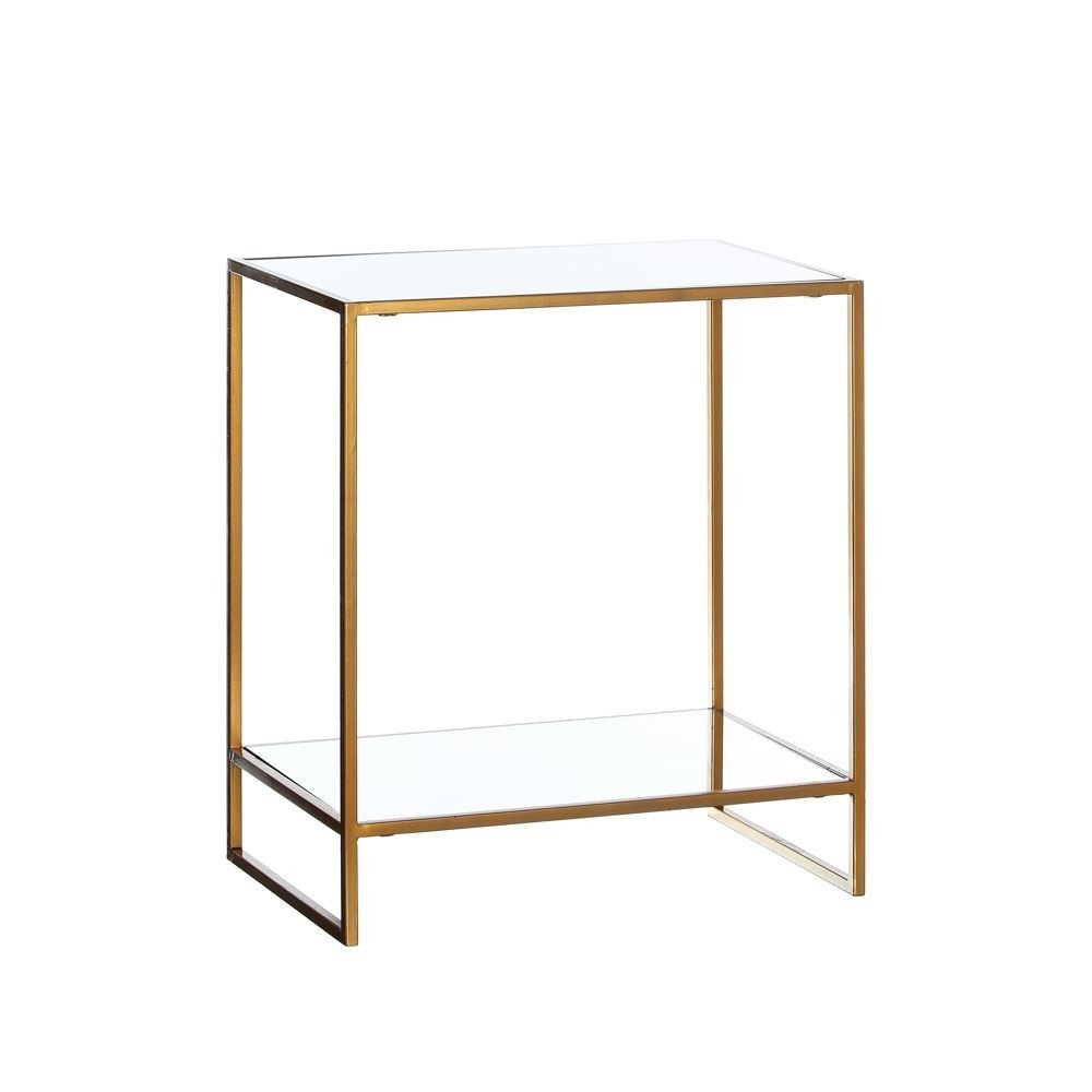 Mesa rectangular espejo oro te imaginas for Mesa espejo