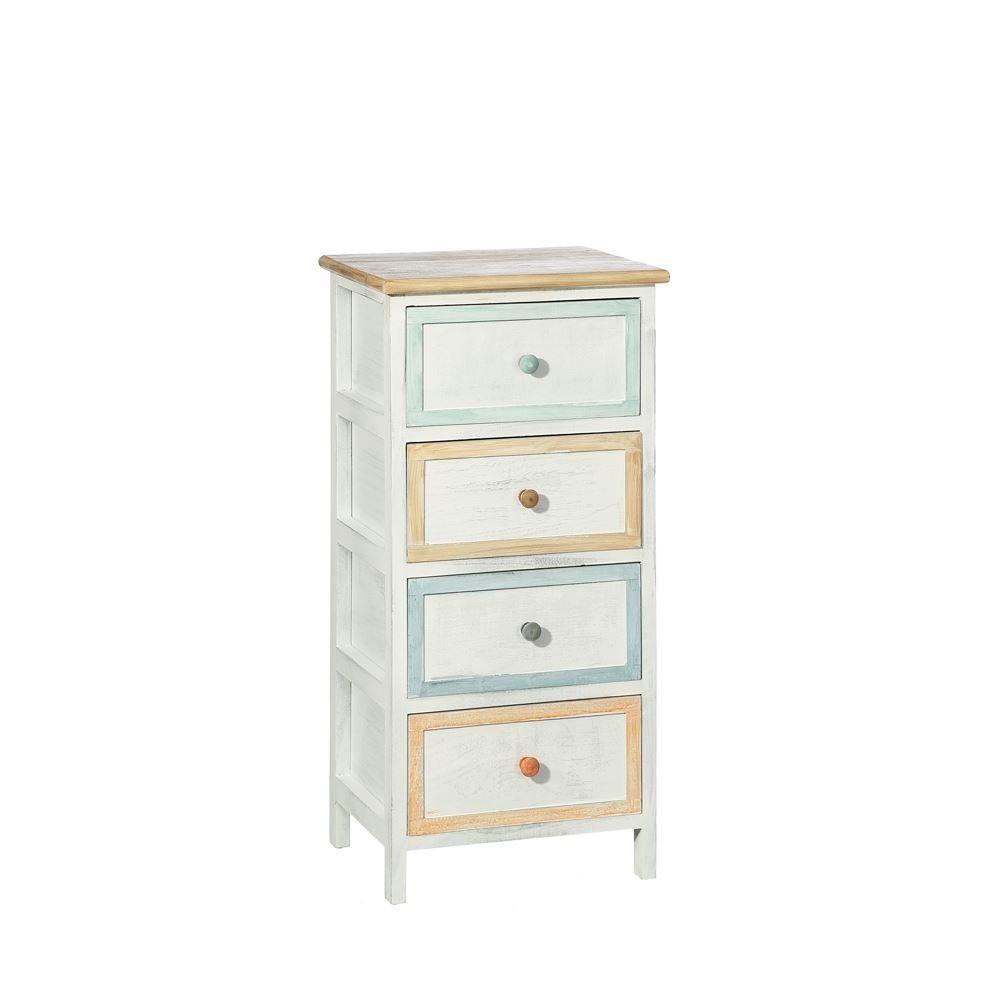 Mueble 4 cajones blanco pastel portes gratis te imaginas - Mueble provenzal blanco ...
