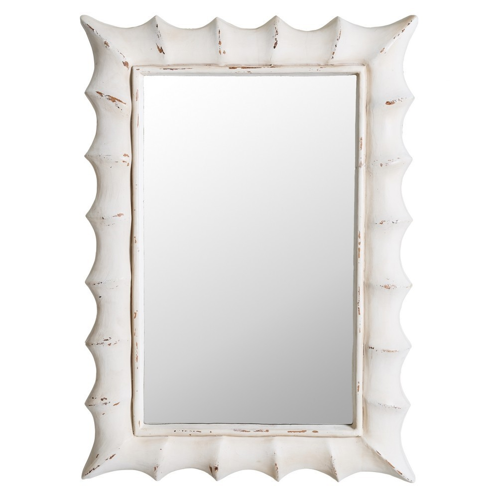 Espejo blanco envejecido rectangular te imaginas for Espejo envejecido