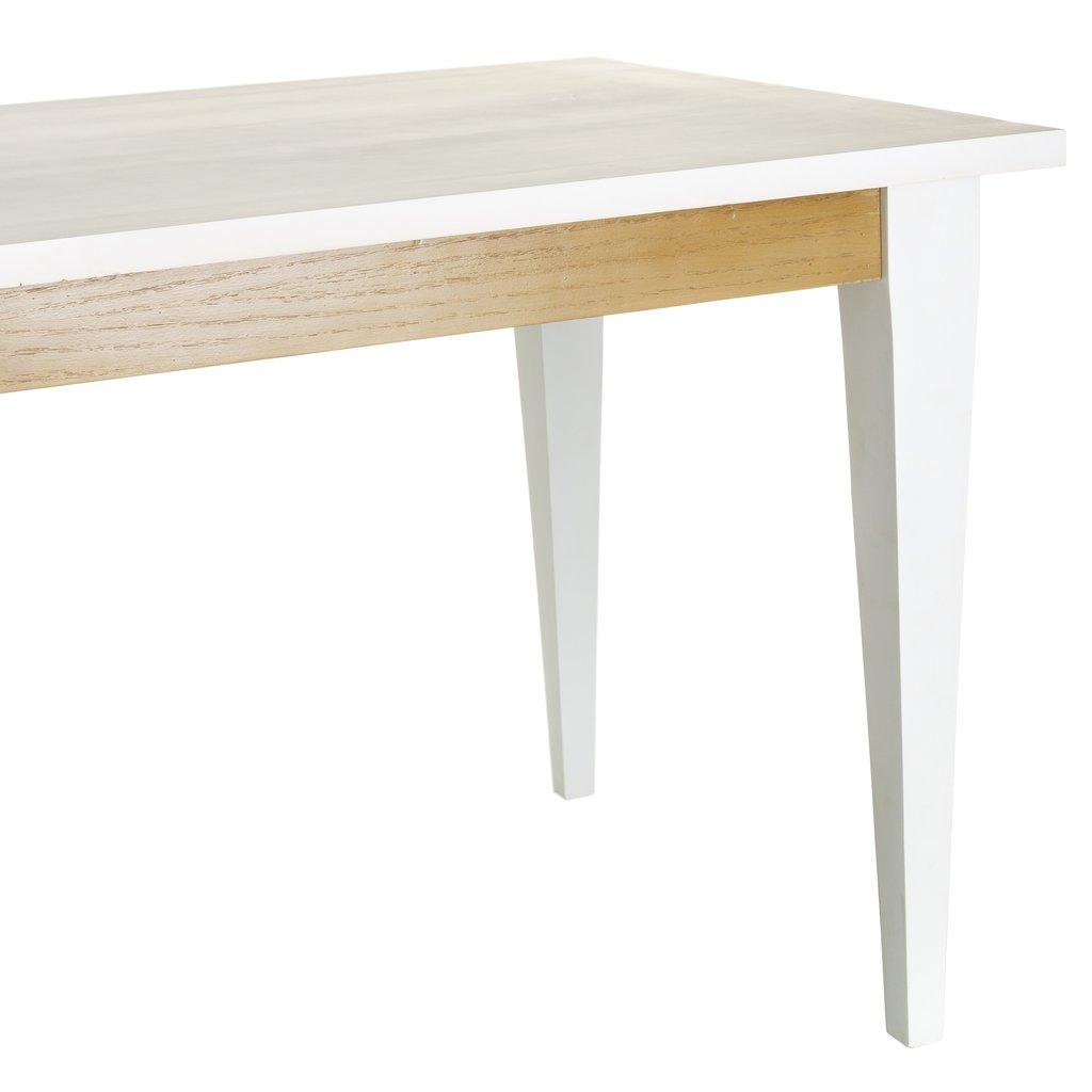 Mesa comedor natural blanco madera te imaginas for Mesas de comedor madera natural