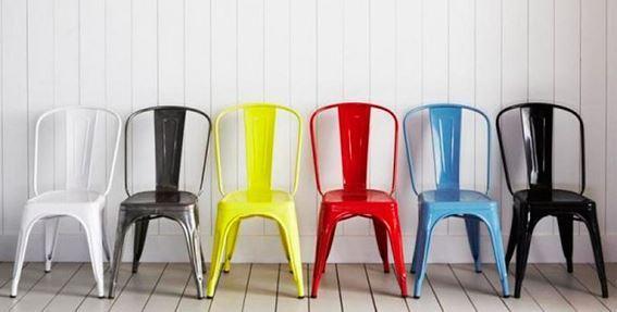 Sillas Colores.Silla Metal Colores Industrial