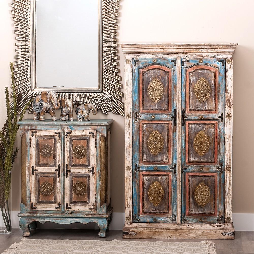 Armario oriental r stico barato portes gratis te for Armarios roperos rusticos baratos