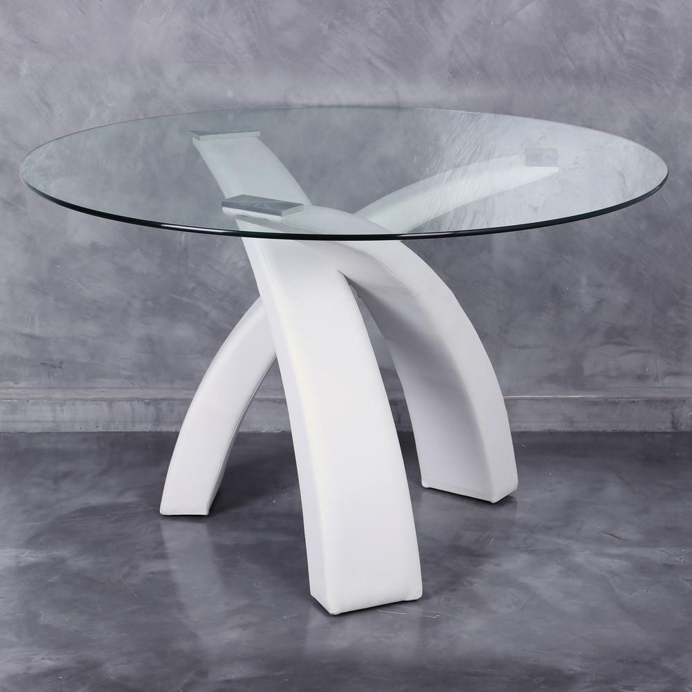Mesa cristal redonda comedor te imaginas - Mesa comedor redonda cristal ...