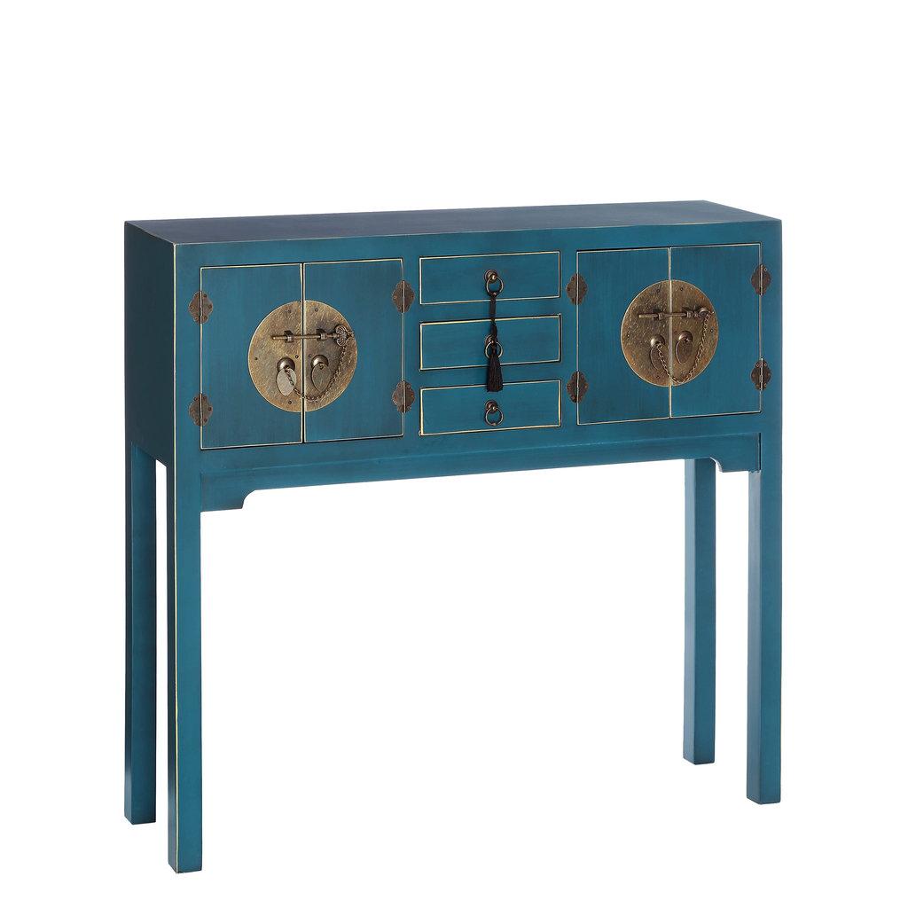 Consola Oriental Azul 3 Cajones Portes Gratis Te