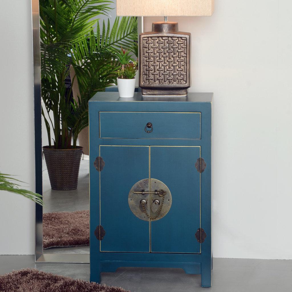 Mueble Oriental Azul 1 Cajón ¡Barato! -Te Imaginas