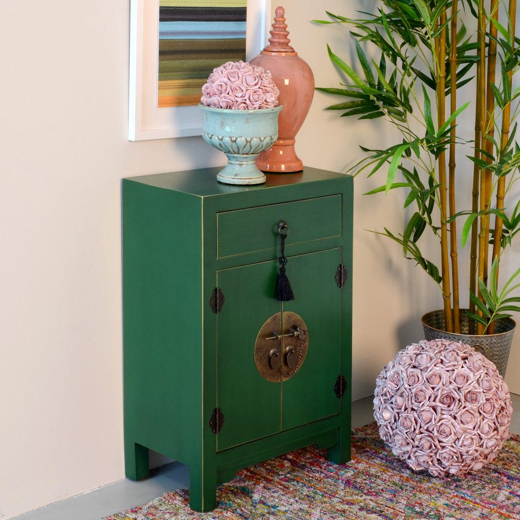 Mueble Oriental Verde 1 Cajón | - Te Imaginas...