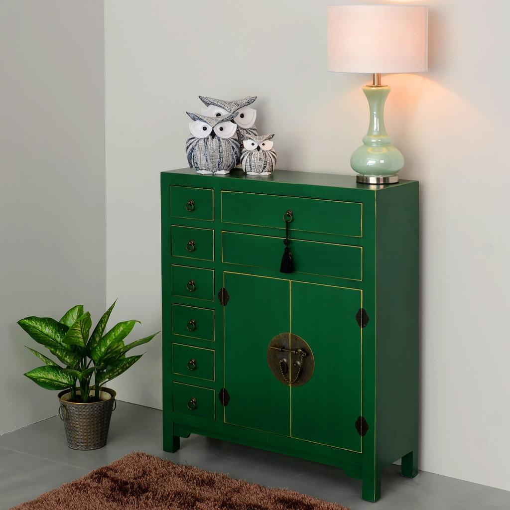 Artesanato Com Garrafa Pet Na Educação Infantil ~ Mueble Oriental Verde 8 Cajones Te Imaginas
