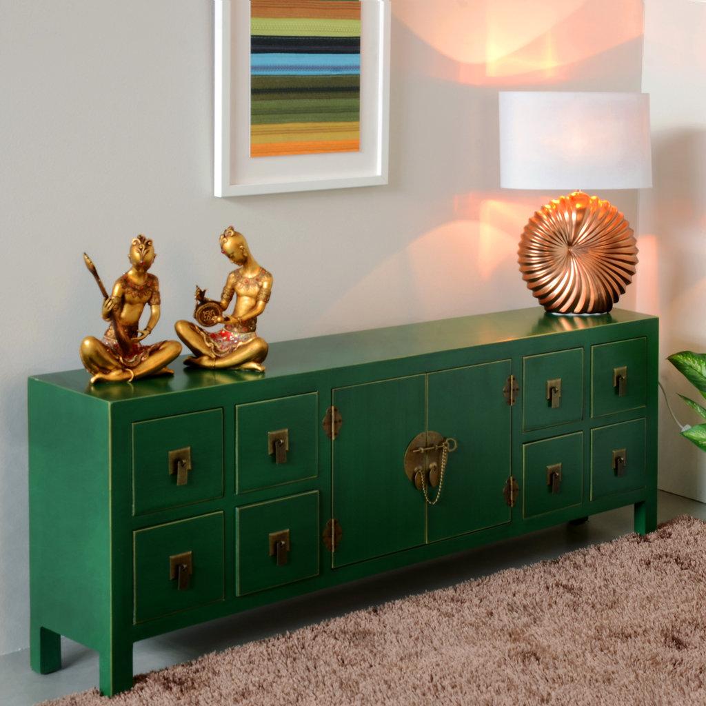 Mueble tv oriental verde barato te imaginas for Muebles chinos online