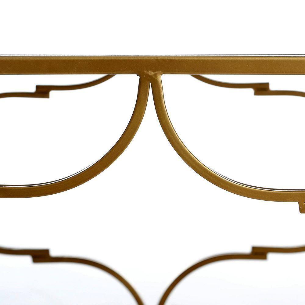 Mesa centro oro metal espejo portes gratis te imaginas for Espejo 120 x 50