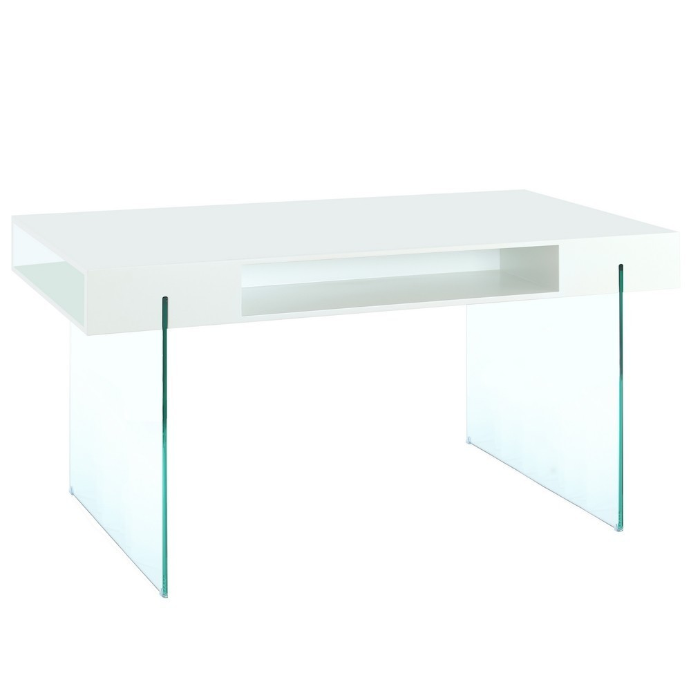 Mesa comedor madera cristal blanco te imaginas - Mesa cristal blanco ...