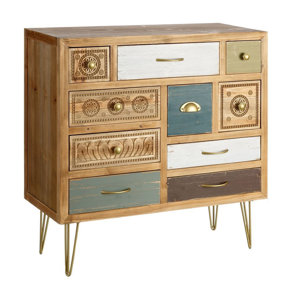 Mueble recibidor 10 cajones vintage portes gratis te for Muebles con cajones de madera