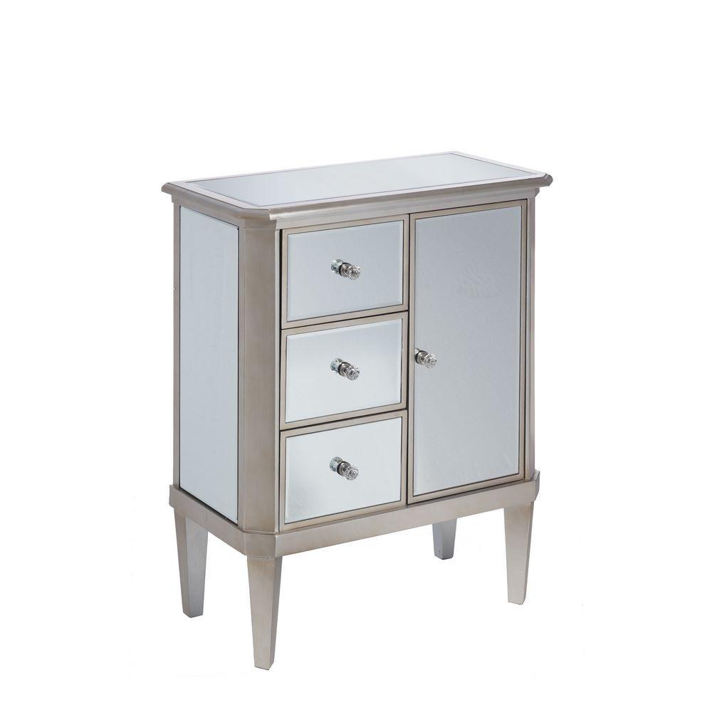 Mueble recibidor plata madera espejo portes gratis te for Ixia muebles