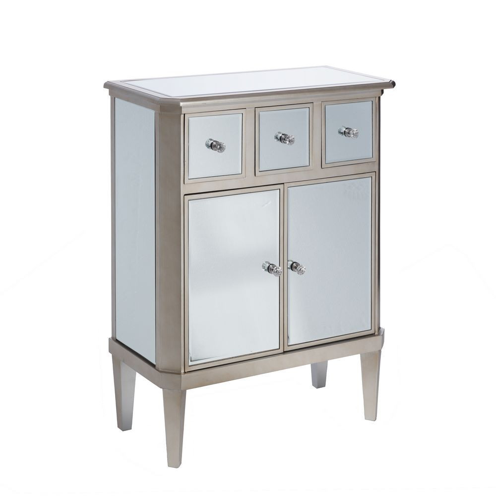 Mueble recibidor plata madera espejo portes gratis te for Mueble recibidor