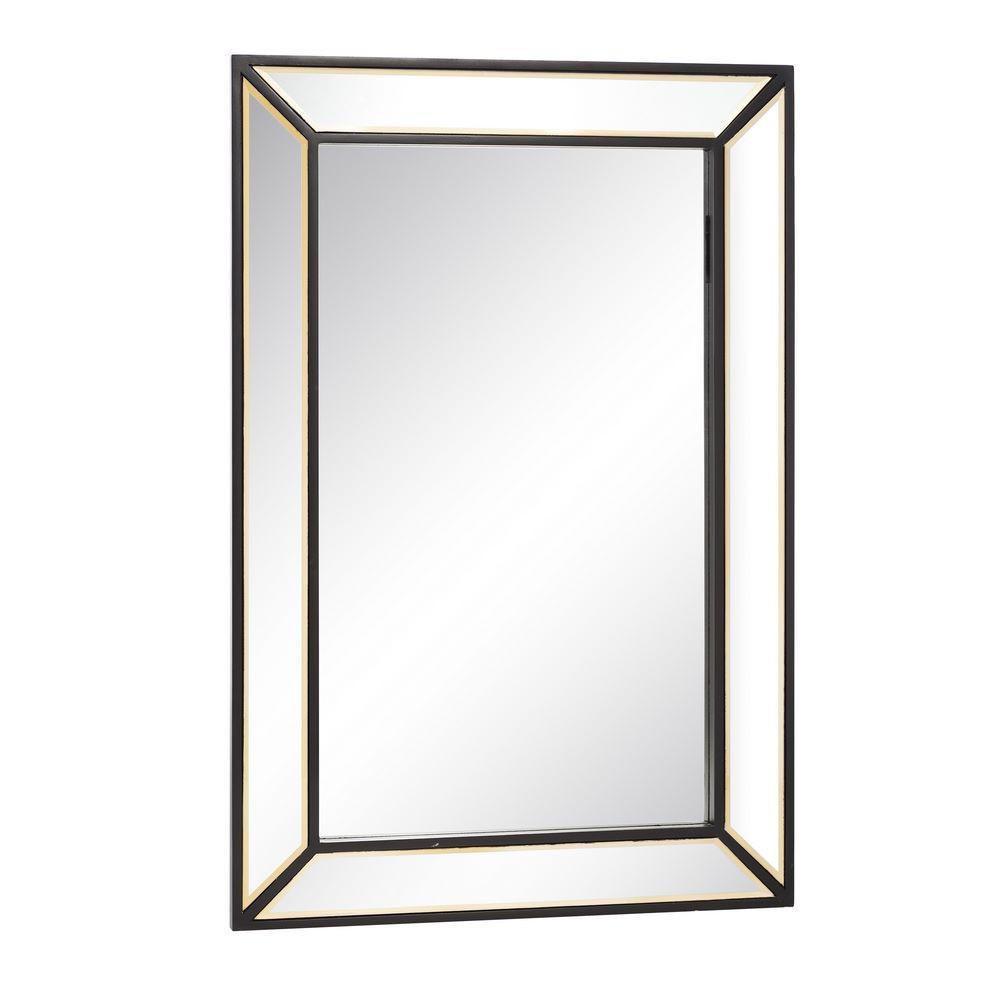 Espejo marco negro cristal 60x90 portes gratis te for Espejo marco cristal