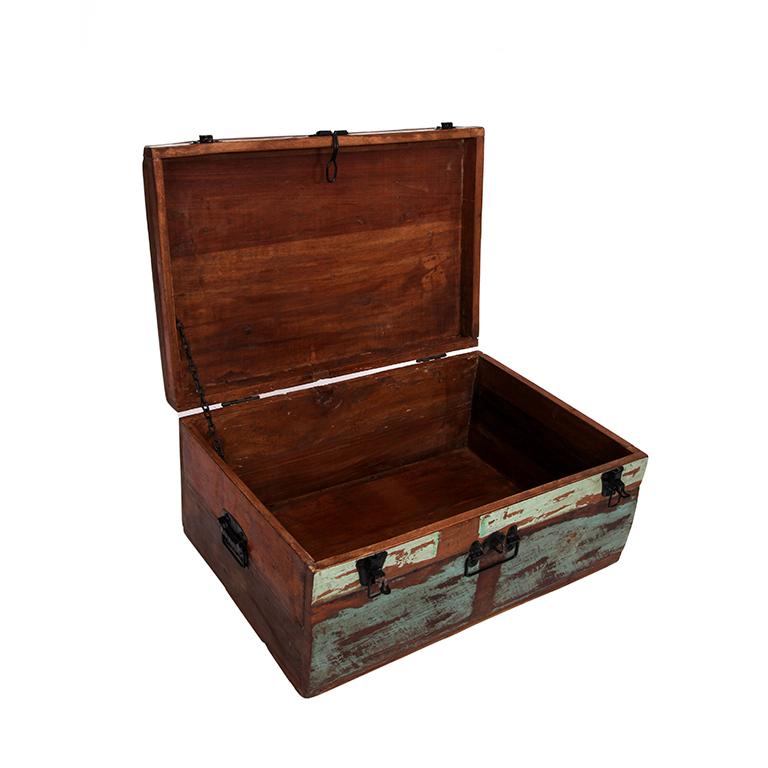 Ba l envejecido madera barato portes gratis te - Baul madera barato ...