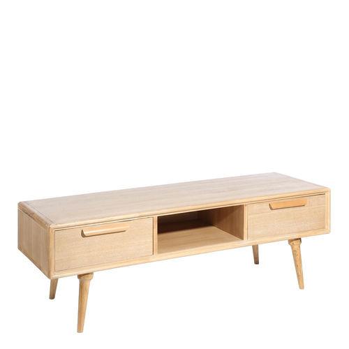 mueble tv 2 cajones madera natural - Muebles Nordicos Baratos