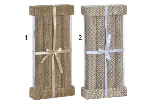 Set 4 Manteles Individuales Fibra Natural